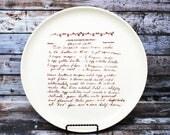 Custom Recipe Plate Custom Platter with Your Family Recipe