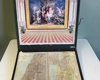 1896 Illuminated Life of Christ Scrolling Story
