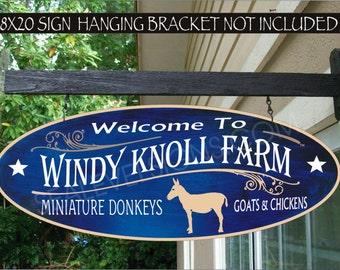 DONKEY Burro Jack Ass Farm Ranch Gift Aluminum Custom Personalized Sign