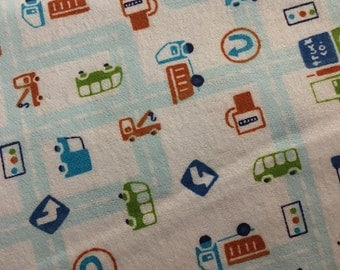City Life - FLANNEL Fabric - BTY