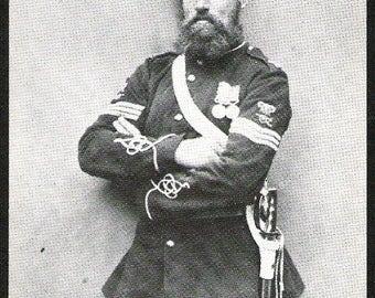 1856 ROYAL ARTILLERY Sergeant Robert Glasgow after Original Wet Plate Collodion postcard real photo, Photograph Post card