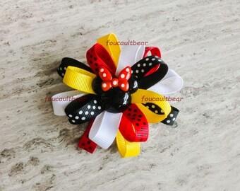 M2M Little Mouse Girl Hair Bow Barrette Clip Custom Boutique
