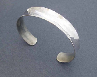 On Sale - Sterling Silver Cuff Bracelet Miminalist Jewelry Handmade Modern Jewelry Anticlastic Cuff Bangle Bracelet