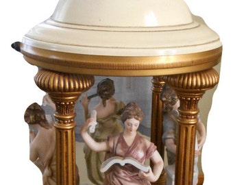 Dresdan style Porcelain Statue. Rococo Group Playing Music