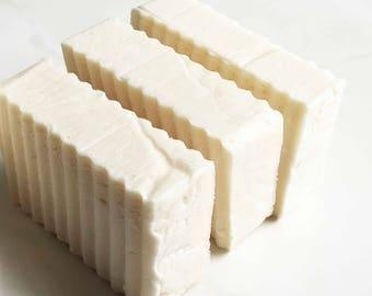 Ocean Breeze - Natural Handmade Vegan SOAP - Raw Unrefined Coconut Oil - 4 oz - Creamy Bath and Shower Body Bar