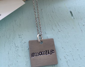 mom life #momlife mom life life of a mom mommy necklace hashtag jewelry