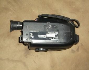 1980s Movie Camera, JVC Compact VHS, Power Adaptor, Bag