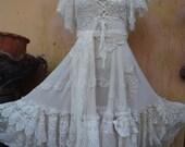 20%OFF , wedding dress, bridal dress, wedding, formal dress, shabby dress, tattered dress, bohemian, gothic dress, gypsy dress, boho dress,