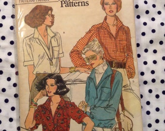 Vintage Vogue 9906 Pullover Shirt Sewing Pattern 34 Inch Bust