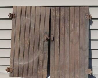 Vintage Wooden Cabinet Doors.