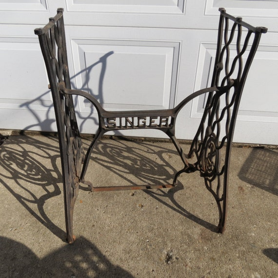 cast iron sewing machine legs