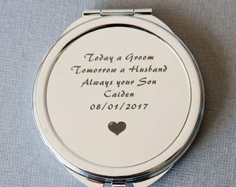 Personalized Compact Mirror, Bridesmaids' gifts, Personalized Bridesmaids Gifts,  mother of the groom gift  ,Personalized Purse Mirror
