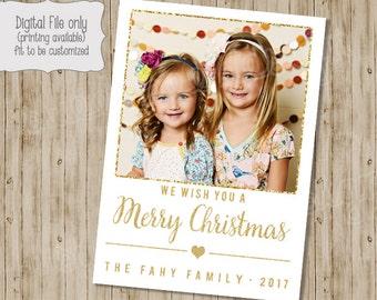 Christmas Photo Card, Holiday Photo Card, Holiday Card, Christmas Card, Glitter Christmas Card, Glitter, Christmas Photo, Holiday Photo