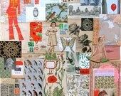 60+ vintage pieces - Special Garden and Birds - Ephemera Paper Pack for Scrapbooking Collage Mixed Media Journal Craft Collecting