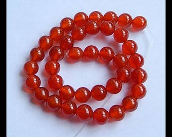SALE! Smooth Red Agate Round Gemstone Loose Bead,1 Strand,40cm In The Length,59.2g