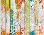 digital paper 12x12 digital scrapbooking scrapbook art journal altered art mixed media collage backgrounds - Artsy Papers Set 5