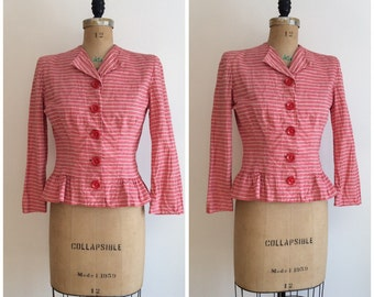 1940s Blazer Suit Jacket 40s