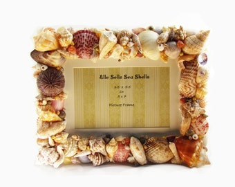 Sea Shells Home Decor Picture Frame 5 x 7 or 3.5 x 5.5