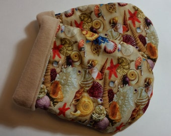 Hot Therapy Spa Mitten Set Sea Shells with Tan Fleece lining