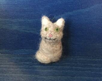 Mini Felted Cat