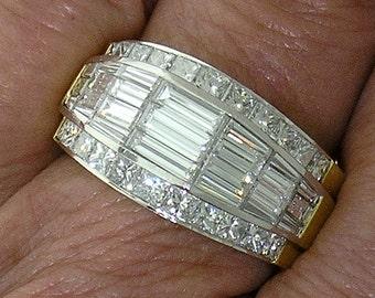 Beautifully Made NOVA PLATINUM & 18k Yellow Gold Contemporary DIAMOND Ring