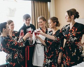 Bridesmaid Robes. Bridesmaids Robes. Bridal Robe. Kimono Robe. Wedding Gift. Dressing Gown. Bridesmaids Gift.