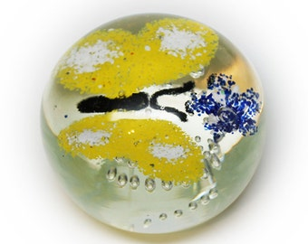 Lovely Butterfly Artglass Paperweight