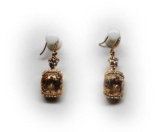 Sterling Silver Tourmaline Dangle Drop Earrings