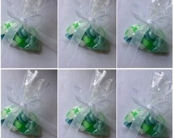 Organic Sea Glass Soap Pebbles, Realistic Original Handmade Soap Pieces, Lot of 6 - 1.5oz. bags Weddings,Party Favors,Custom Orders Welcome