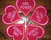 "DONATION PIECE, ""Girl Power"", handmade patch, Planned Parenthood, red, heart, resist, resistance, free shipping"