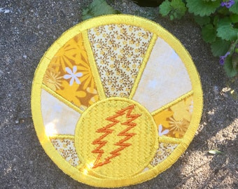 Sunshine Daydream handmade Grateful Dead patch, iron on, patchlique, patchwork, Jerry Garcia, Sugar Magnolia, Sunshine, Hippie, upcycled