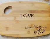 Custom for Barb Personalized Love Heart Cutting Board
