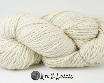 THE LAST of this KIND! Royal Baby Natural Alpaca Yarn Chunky Weight White
