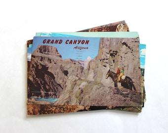 15 Vintage Grand Canyon Arizona Postcards Used