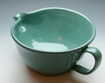NEW Turquoise Ceramic Batter Bowl, (FREE POTTERY Gift with order) Mixing Bowl, Handmade Pottery
