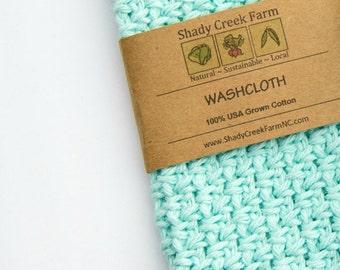 WASHCLOTH cotton washcloth, handmade wash cloth, crochet wash cloth, cotton wash cloth Shady Creek Farm eco friendly