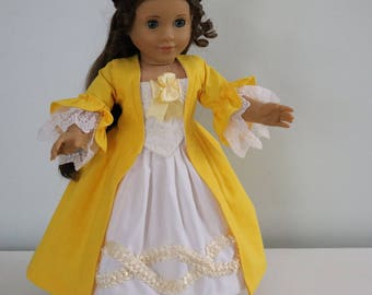 Colonial Gown/Dress fits 18in. dolls