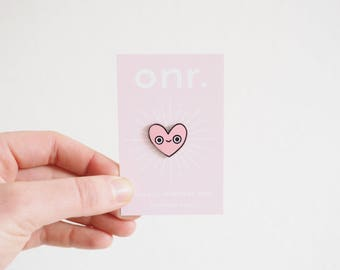 Heart Pal Enamel Pin // enamel pin - pin badge - heart pin - lapel pin - flair - enamel jewellery
