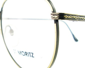 Vintage Antique Gold Eye Glasses Eyeglasses Sunglasses Frame Eyewear