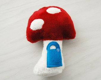 Tooth Fairy Mushroom Pillow or Elf House - Small
