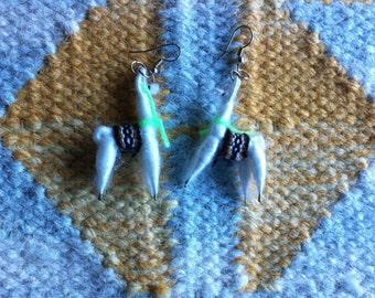 Llama Woven Earrings