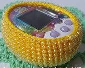 Tamagotchi M!X mix 4U iDL Ps case crochet with beads by MarinaMandarina