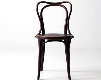 Jacob & Josef Kohn bentwood chair, antique pressed seat chair