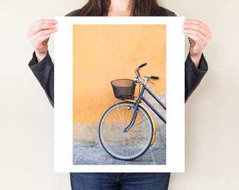 Bicycle art, Italian bicycle photo, minimalist fine art photograph. Bicycle wall art, gift for cyclist, home decor. Italy travel photography