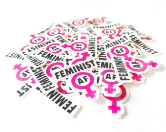 Feminist AF Temporary Tattoo, women's symbol, women's march, protest signs, gender equality, political tattoo, feminist tattoo, women