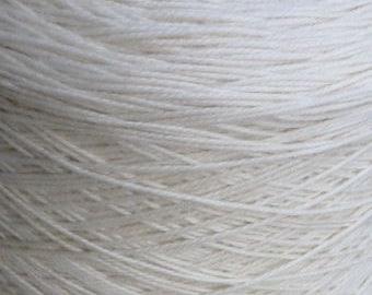 Sport Weight Merino Silk Luxury Yarn 2 pound Cone Ecru