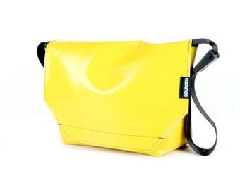 Large Messenger Bag made from Recycled Truck Tarp, Man Bag, Satchel Style Bag, MacBook Bag (59.02)