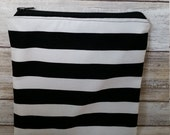 Snack-e sandwich bag. Big stripes. Cotton