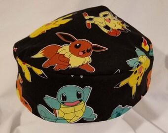 Pokemon Kippah Yarmulke Black Classic Original Buchari Style