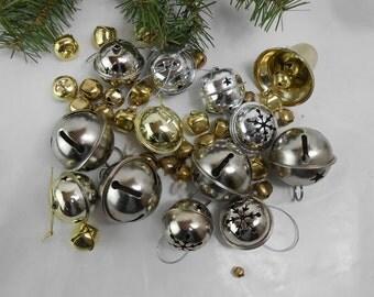 Jingle bells vintage jingle bells Christmas decor supplies destash